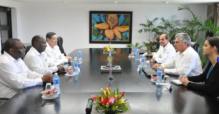 Recibe Díaz-Canel al Vicepresidente de Sudáfrica