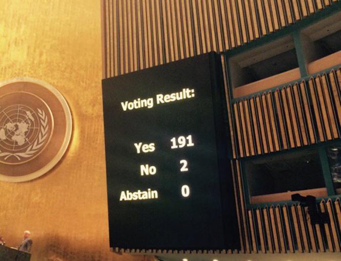 Voto bloqueo ONU correcta