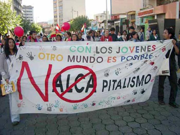 En toda América Latina los pueblos se movilizaron en la lucha contra el área de libre comercio.
