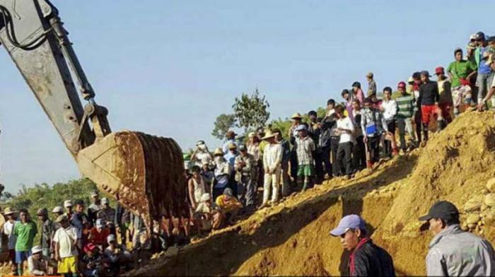 Alud en Myanmar provoca más de 110 fallecidos