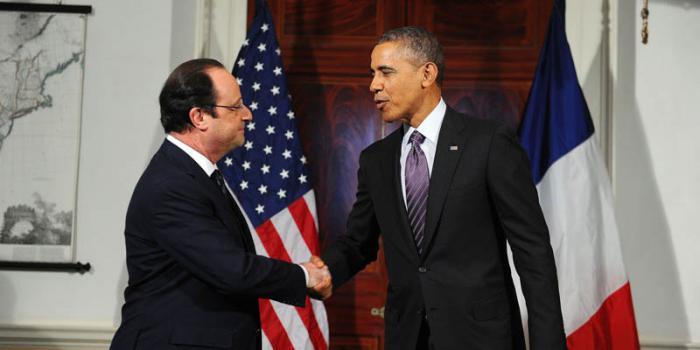 """Obama y Hollande: """"El Estado Islámico debe ser destruido"""""""