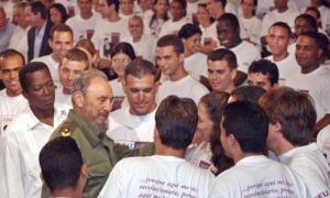 Fidel en la Universidad de La Habana
