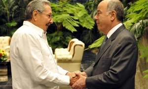 Recibió Raúl al Canciller de Brasil