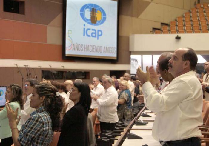 Acto por el Aniversario 50 del  ICAP. Delegados e invitados.