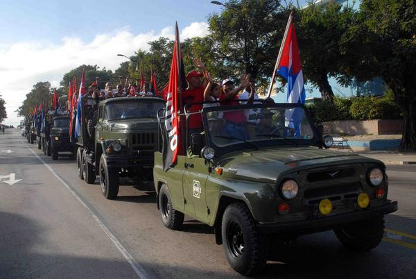 Recorrido de la Caravana de la Libertad por Bayamo