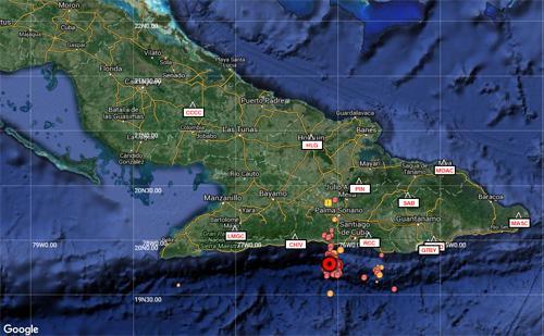 Reportan sismo perceptible en Santiago de Cuba, Guantánamo, Granma y Holguín