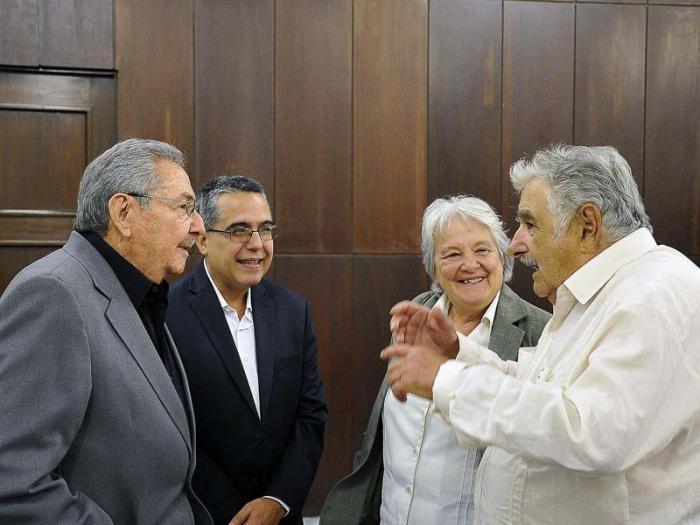 Recibió Raúl Castro al expresidente uruguayo José Mujica