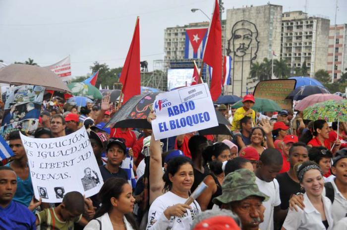 Desfile del 1ro de Mayo en la Plaza de la Revolución.