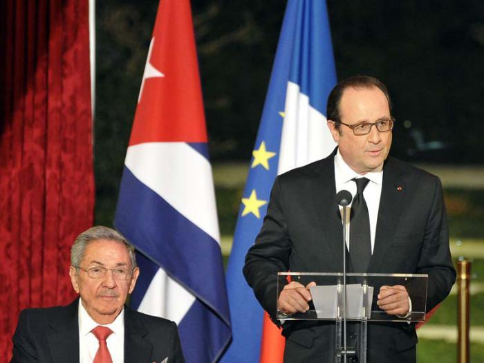 Asegura Hollande que Francia sabrá acompañar a Cuba en su desarrollo