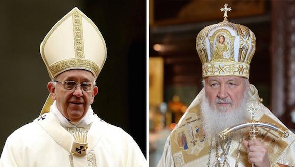 La prensa atenta a reunión del Papa Francisco y el Patriarca Kiril