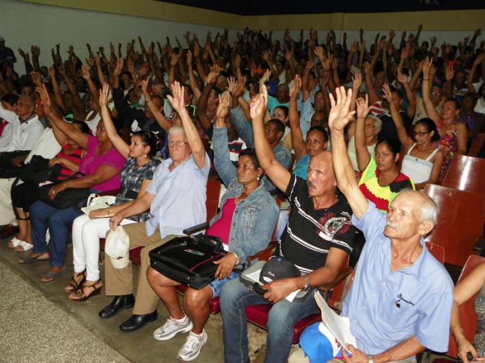 Raúl Castro, delegado al VII Congreso del Partido Comunista de Cuba