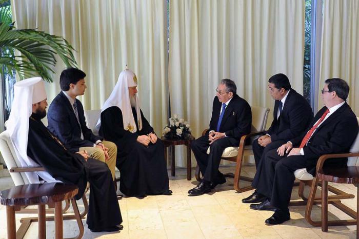Raúl y Patriarka Kirill