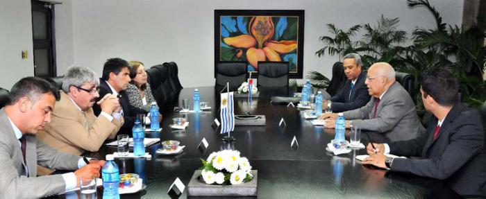Se reune Cabrisas con Vicepresidente de Uruguay