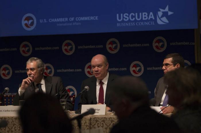 Cámara de Comercio de Estados Unidos recibe a ministro cubano