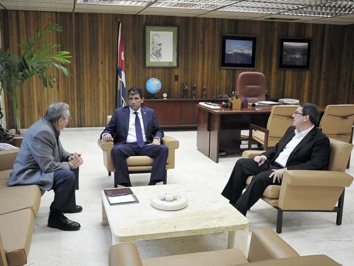 Recibió Raúl al Vicepresidente de Uruguay