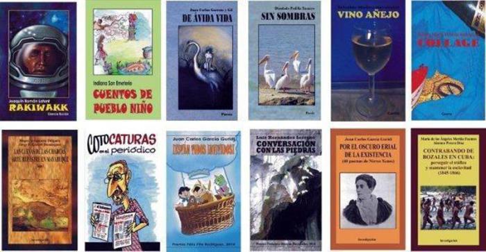 Portada de los libros de Montecallado.