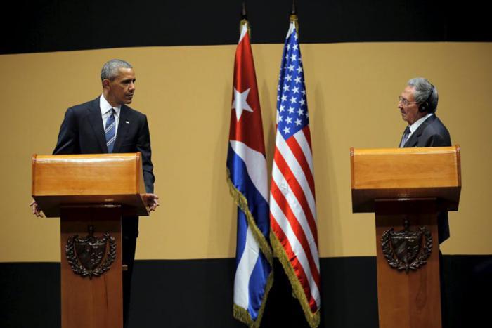 Raul Casrtro y Barack Obama