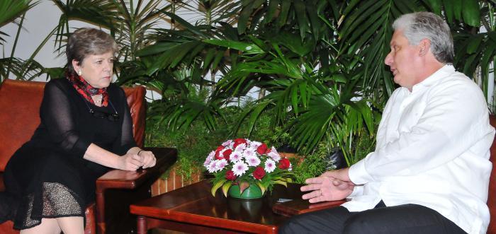 Se reúnen en Cuba Díaz-Canel y la Secretaria Ejecutiva de CEPAL