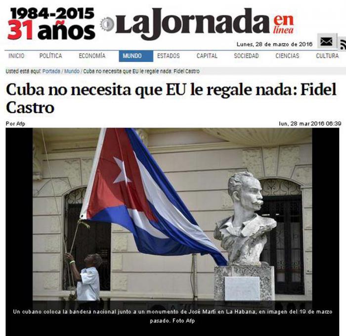 Amplia repercusión internacional del artículo de Fidel Castro