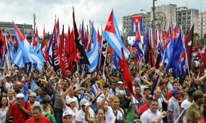 Los trabajadores cubanos expresan cada Primero de Mayo su  apoyo a la Revolución y al socialismo.