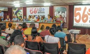 V Pleno de la Direcciòn Nacional de los CDR Preside Carlos Rafael Miranda, coordinador nacional de los Comités de Defensa de la Revolución