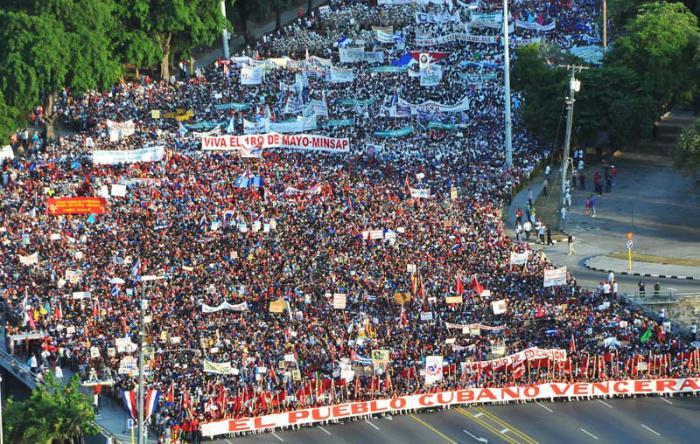 Acto Central por el 1ro de Mayo en la Plaza de la Revolución José Martí.  (foto Jorge Luis Gonzàlez) 1-5-16 Acto02N9