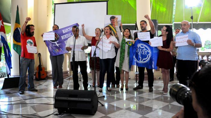 Organizaciones sociales cubanas se pronuncian contra el Golpe en Brasil