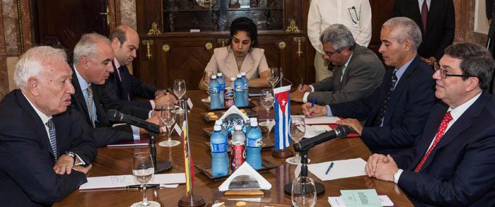 Sostienen conversaciones oficiales cancilleres de Cuba y España