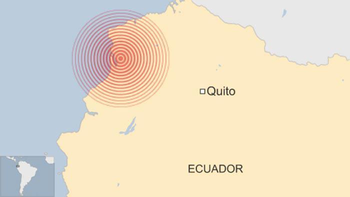 El movimiento ocurrió a las 02:57 A.M. hora local, a una profundidad de 10 kilómetros y su epicentro fue cerca de Mompiche, en la costa.