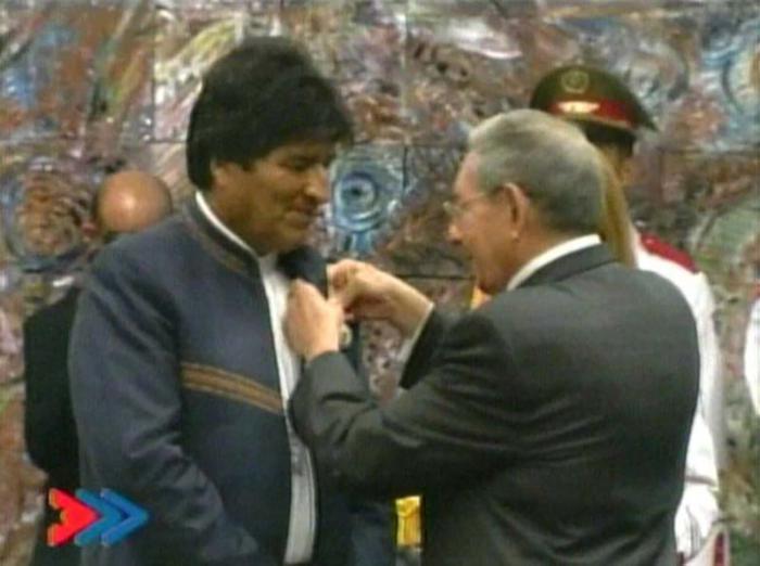 Presidente Raúl Castro recibe a su homólogo boliviano Evo Morales