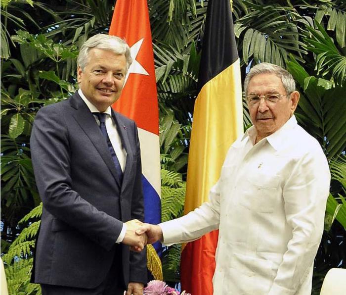 Recibió Raúl Castro en La Habana a Didier Reynders vicepremier y canciller de Bélgica