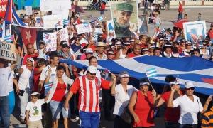 desfile 1ro de mayo en Bayamo