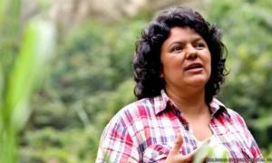 Líder indígena Berta Cáceres.