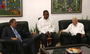 El presidente del Comité Olímpico Cubano, José Ramón Fernández, recibió a Su Alteza Real Príncipe Ahmad Al-Fahad Al-Sabah, presidente de la Asociación de Comités Olímpicos Nacionales (ACNO).
