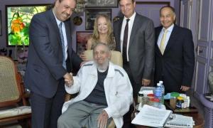 Fidel Castro y Príncipe Ahmad Al-Fahad Al-Sabah
