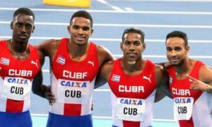César Ruiz, Roberto Skyers, Reynier Mena y Yaniel Carrero