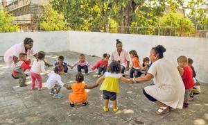 Recorrido por círculos infantiles.  Círculo infantil Los Alelíes en el Municipio Guanabacoa