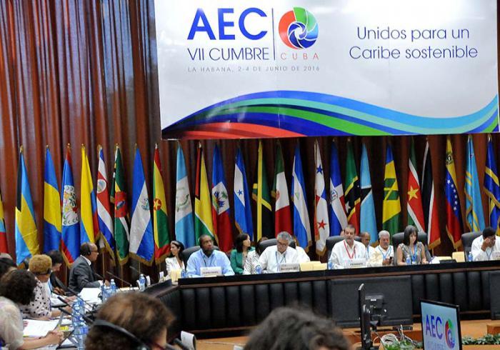 VII Cumbre AEC 1ra seción de altos funcionarios.