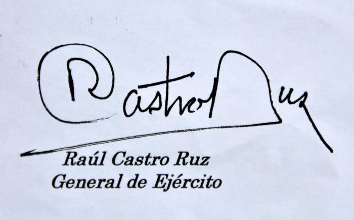 Mensaje de felicitación de Raúl Castro a los combatientes del Ejército Occidental
