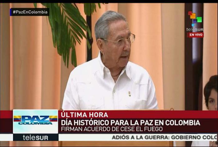 Recibe Raúl Castro a personalidades para histórico acuerdo colombiano