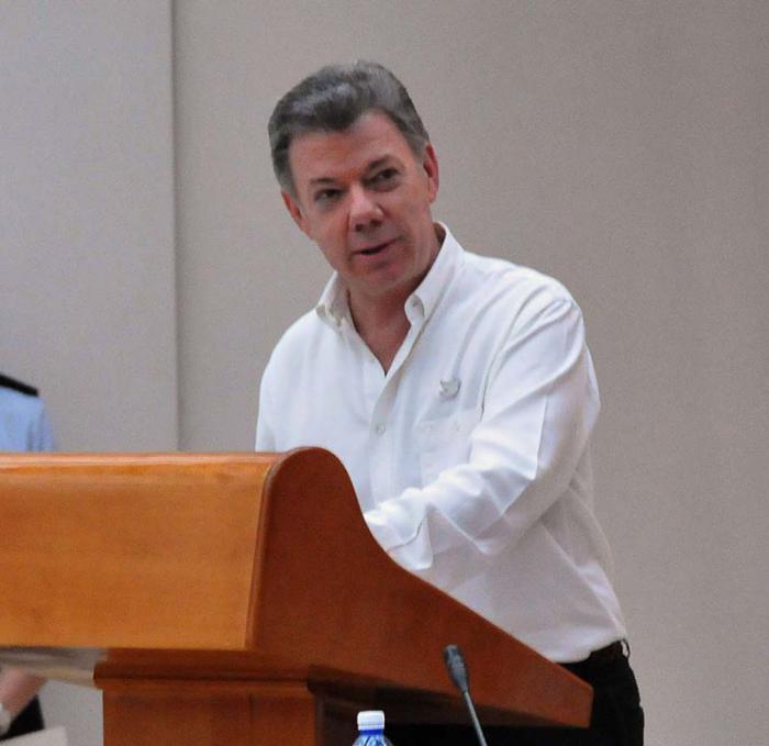 Firma acuerdos de paz Colombia y las FAR.EP.Habla el Presidente de Colombia Juan Manuel Santos