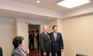 Díaz-Canel se reunió con Keiji Furuya
