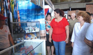 Feria Matanzas 2016. Expocuba. General de División Samuel Rodiles Plana (Director Nacional del IPF), Tania León Sirveira (Presidenta de la Asamblea Provincial del Poder Popular de Matanzas), Teresa Rojas (Primera Secretaria del PArtido en Matanzas)