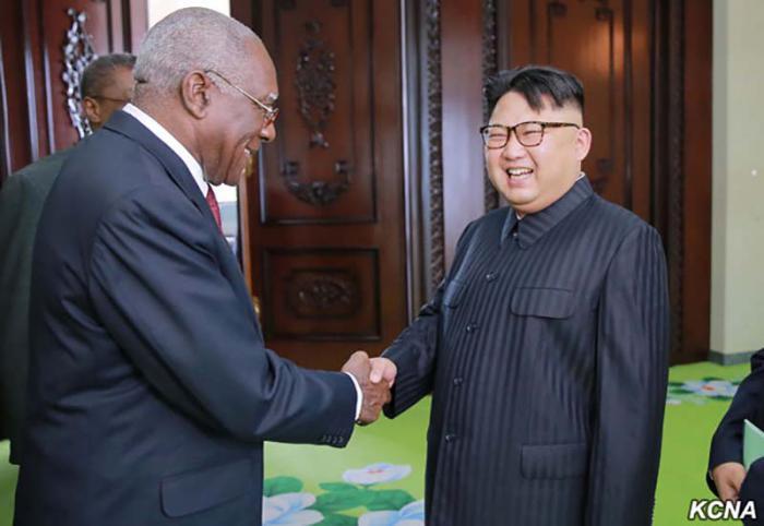Recibe Kim Jong Un al vicepresidente cubano Salvador Valdés Mesa