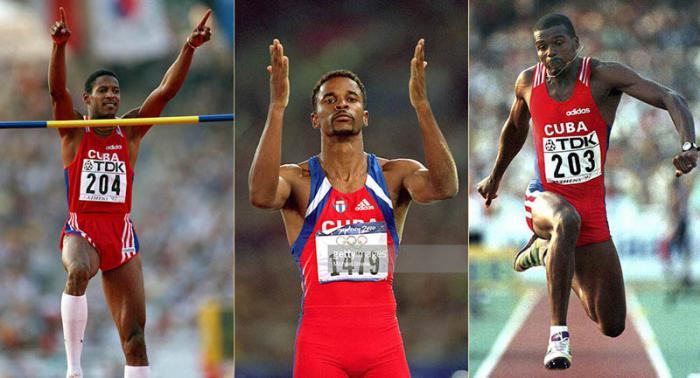 Javier Sotomayor, Iván Pedroso y Yoelbi Quesada, los dos primeros campeones y el tercero bronce, tienen sin embargo igual aporte olímpico en puntos, con 15