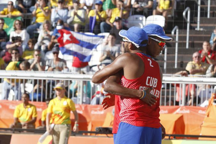 Causan sensación en Río-2016 atletas cubanos de voleibol de playa