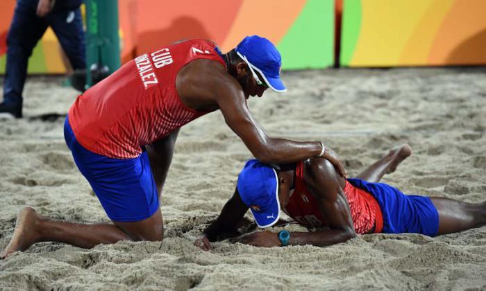 volivol de playa cuba vs Rusia la pareja cubana de Nivaldo Diaz y Serigio Gonzalez
