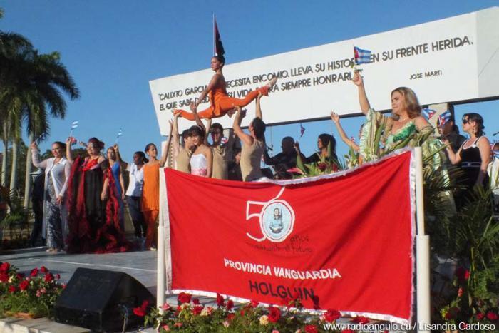 Celebran en Holguín acto por aniversario56 de la FMC