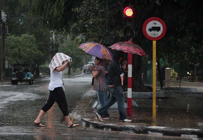 Numerosas lluvias en la región oriental