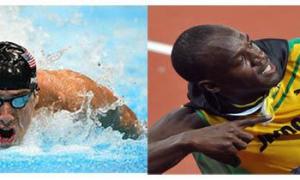 Michael Phelps y Usain Bolt